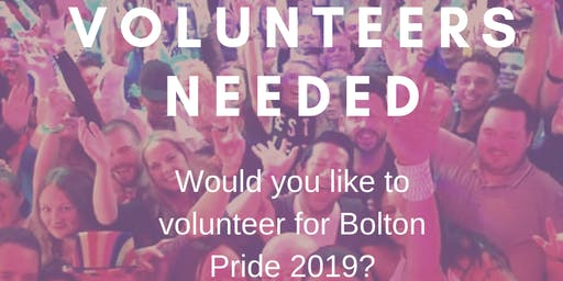Volunteer for Bolton Pride 2019
