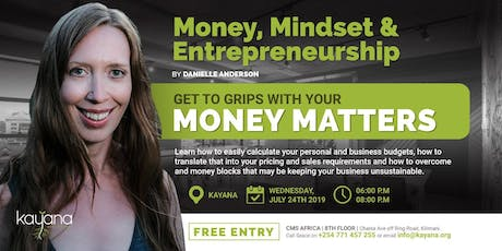 Money, Mindset & Entrepreneurship tickets