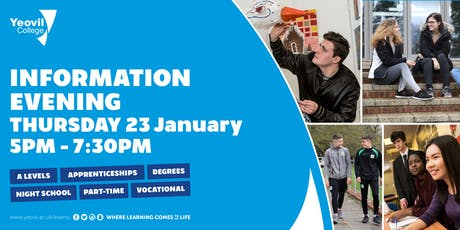 Yeovil College Information Evening - June 2020 tickets