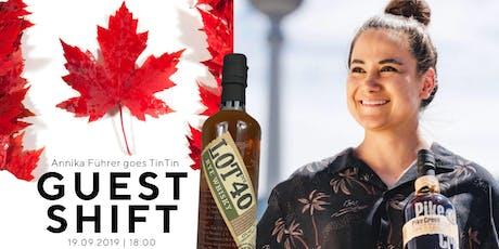 Canadian Whisky Gastschicht mit Annika Führer in der TinTin Bar Tickets