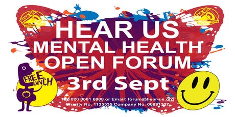 HEAR US MENTAL HEALTH OPEN FORUM tickets
