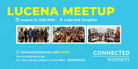 #ConnectedWomen Meetup - Lucena (PH) - August 14 tickets