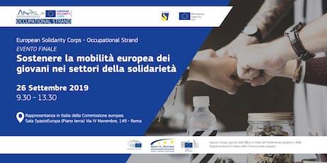 Sostenere la mobilità europea dei giovani nei settori della solidarietà biglietti