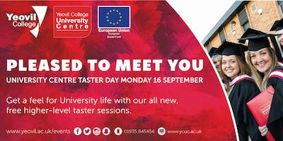 Pleased to Meet You: Higher Education Taster Day | October