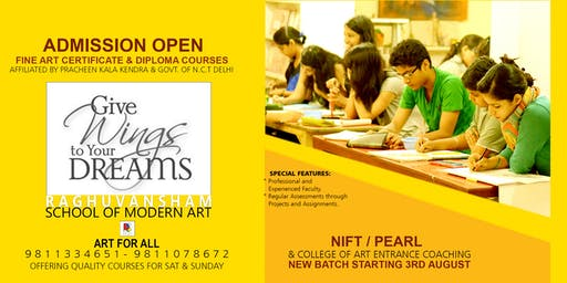 Admission Open for Fine Art, NIFT, PEARL Coaching