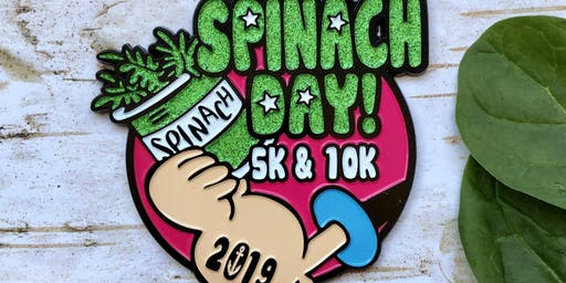 Now Only $10! Spinach Day 5K & 10K-Charleston