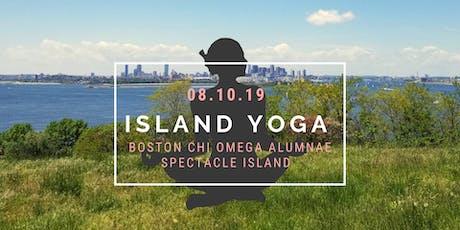 Boston Chi O Alumnae at Island Yoga on Spectacle Island! tickets