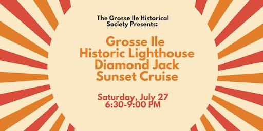 Grosse Ile Historic Lighthouse Diamond Jack Sunset Cruise