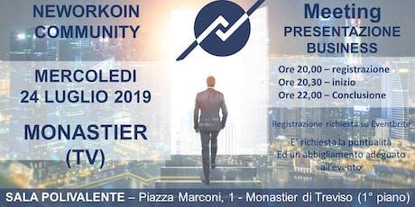 MEETING PRESENTAZIONE BUSINESS - NEWORKOIN COMMUNITY - MONASTIER (TV) biglietti