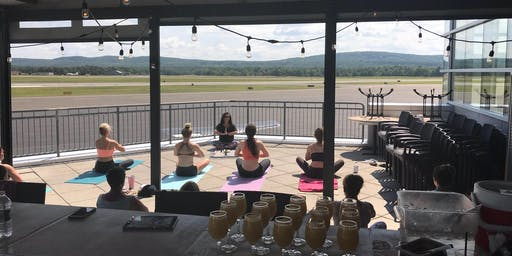 Yoga~Mimosa on the Deck at SOK'S Runway!