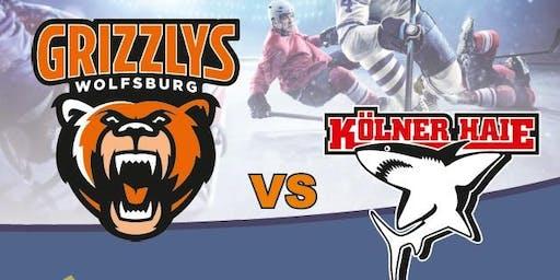 DEL Eishockey: Grizzly Adams Wolfsburg vs. Kölner Haie