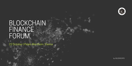 Blockchain Finance Forum tickets