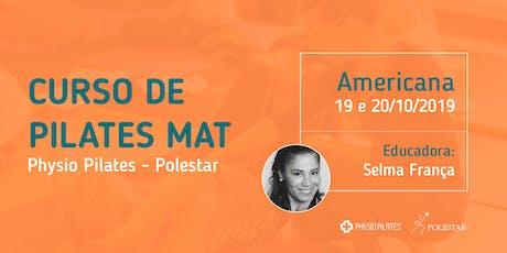 Curso de Pilates Mat - Physio Pilates Polestar - Americana ingressos