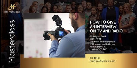 Masterclass: How to give an interview on TV and Radio tickets