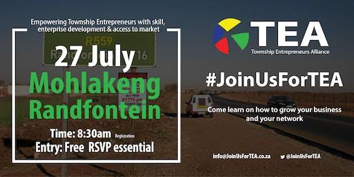 #JoinUsForTEA Mohlakeng - 27 July 2019