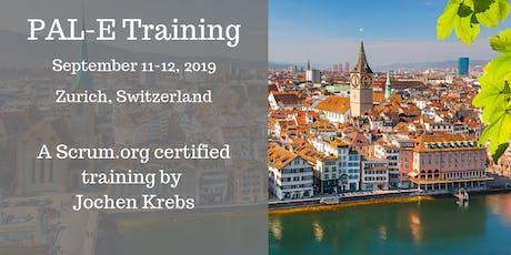 Professional Agile Leadership training (PAL-E)   Sept 11-12 in Zurich   by Jochen Krebs tickets