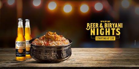 Beer & Biryani Nights tickets