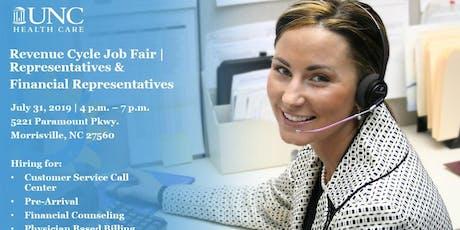 UNC Health Care Revenue Cycle Job Fair & Interview Event - Representatives & Financial Representatives tickets