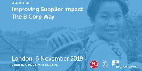 Improving Supplier Impact - The B Corp Way - Paid Course tickets