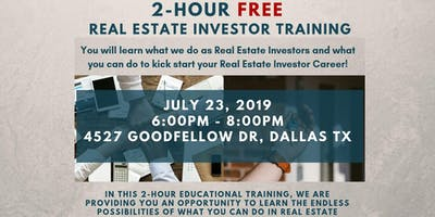 July 23rd: 2-Hour FREE Real Estate Investor Training