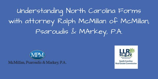 Understanding North Carolina Forms with Ralph McMillan