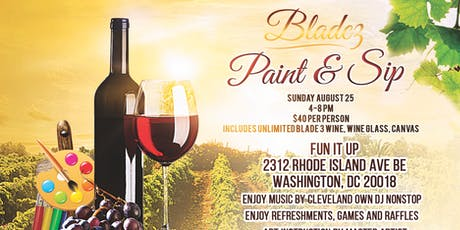Paint & Sip with Blade 3 Wine tickets