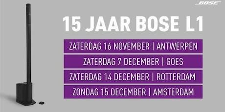 15 Jaar Bose L1 bij Bax Music in Antwerpen tickets