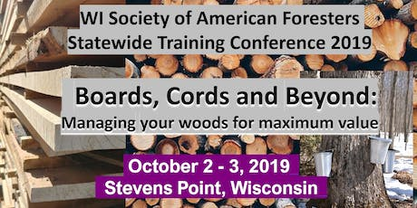 Wisconsin Society of American Foresters Statewide Training Conference 2019 tickets