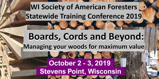 Wisconsin Society of American Foresters Statewide Training Conference 2019