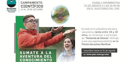 "Reunión informativa sobre ""Horizonte de Ciencia NQN 2019"""