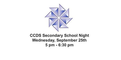 Canton Country Day School 2019 Secondary School Night