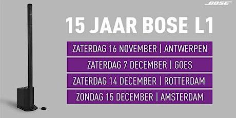 15 Jaar Bose L1 bij Bax Music in Rotterdam tickets