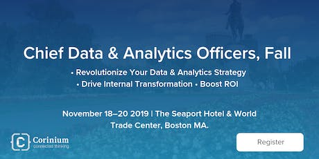 Chief Data & Analytics Officers, Fall 2019 tickets