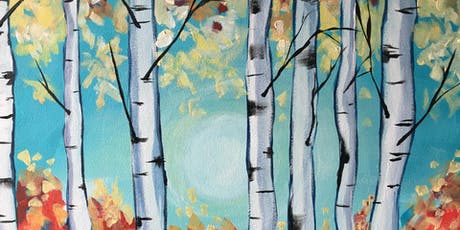 Paint & Sip Party Event - 'Silver Birches'  The Oliver Cromwell,  St. Ives tickets
