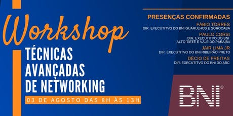 Workshop - Técnicas Avançadas de Networking ingressos