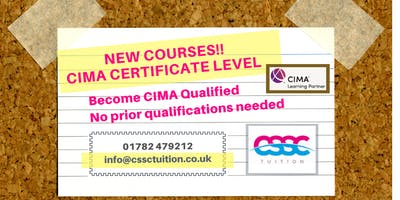 Accountancy Courses: CIMA Certificate Level ( CIMA BA Cert) Evening Classes