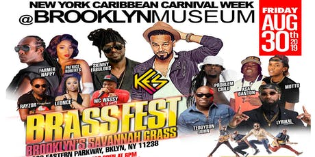 """BRASSFEST 2019: Brooklyn's """"Savannah Grass"""" featuring KES the Band, Farmer Nappy, Motto, Teddyson John and more! tickets"""
