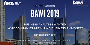 Business Analysis Workshop Italy - BAWI - 2019 (7...