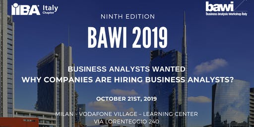 Business Analysis Workshop Italy - BAWI - 2019 (7 CDU/PDU!)