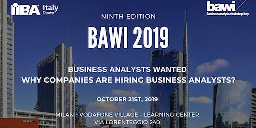 Business Analysis Workshop Italy - BAWI - 2019 (7 CDU/PDU!)