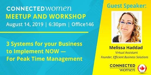 #ConnectedWomen Meetup - Toronto (CA) - August 14