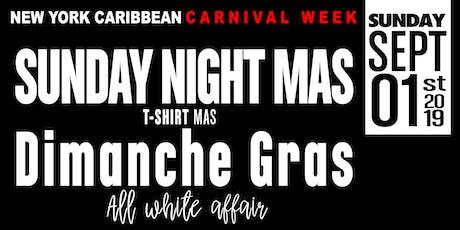 Sunday Night Mas': Dimanche Gras - An All White Affair  tickets