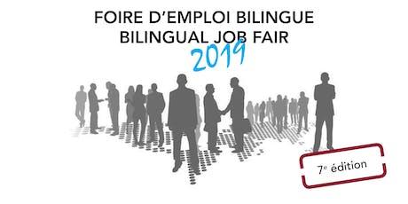 FOIRE D'EMPLOI BILINGUE 2019- BILINGUAL JOB FAIR 2019 billets