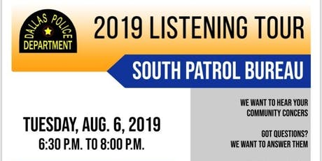 2019 COMMUNITY LISTENING TOUR tickets