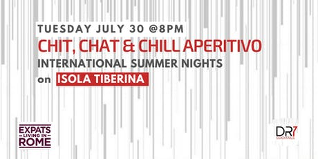Rome Expats Chit, Chat & Chill Aperitivo on Isola Tiberina tickets