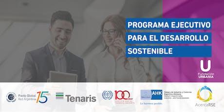 Programa Ejecutivo para el Desarrollo Sostenible 2019 entradas