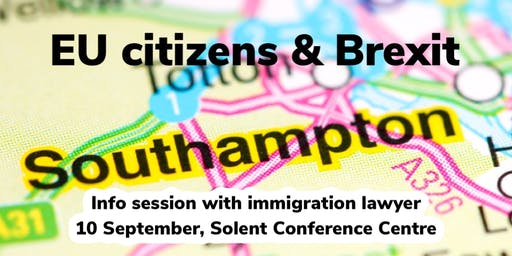 EU citizens & Brexit: info session with immigration lawyer