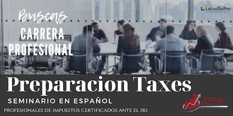 Preparacion de Taxes Impuestos I y II tickets