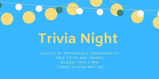 Trivia Night! - Free Food and Beer