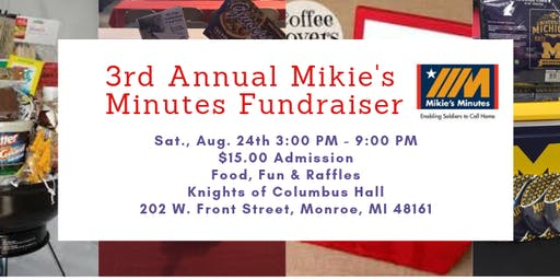 3rd Annual Mikie's Minutes Fundraiser with LIVE Chainsaw Carving